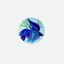 Big Blue Siamese Fighting Fish_mpad Mini Button