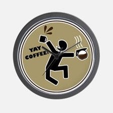 yay coffee Wall Clock