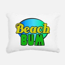 beach bum posters Rectangular Canvas Pillow