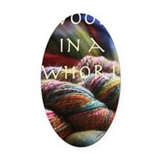 woolinawhorl Oval Car Magnet