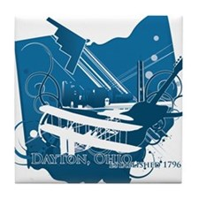 dayton logo Tile Coaster
