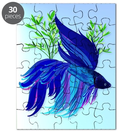 460 ipad casebig blue siamese fighting fish puzzle by