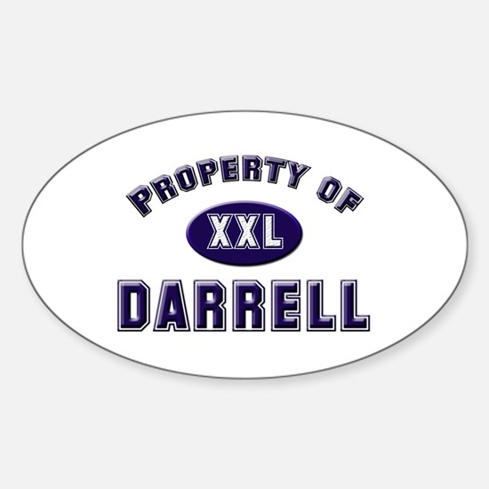 Property of darrell Oval Decal