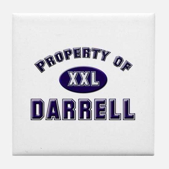 Property of darrell Tile Coaster