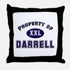 Property of darrell Throw Pillow
