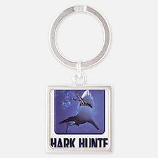 sharkhunter01 Square Keychain