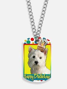 BirthdayCupcakeWestie Dog Tags