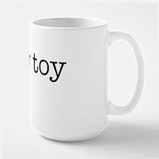 tshirt_chewtoy_blacktype Large Mug