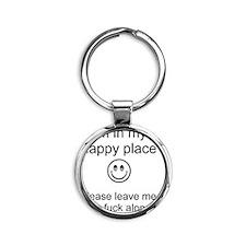 my happy place 1 Round Keychain