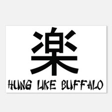 hung like buffalo copy Postcards (Package of 8)