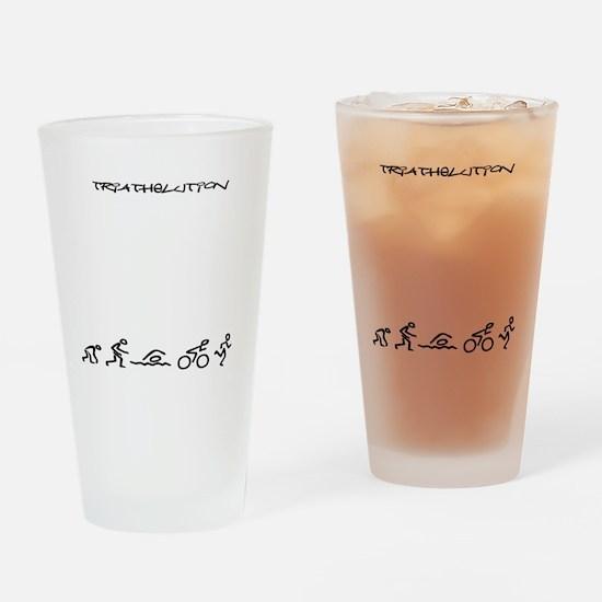 Evolution_Triathlution_lincenseplat Drinking Glass
