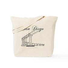 SanDiego_10x10_CoronadoBridge_Black Tote Bag