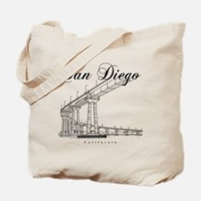 SanDiego_10x10_CoronadoBridge_Black Tote Bag