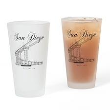 SanDiego_10x10_CoronadoBridge_Black Drinking Glass