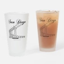 SanDiego_10x10_CoronadoBridge_Black Drinking Glass