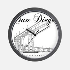 SanDiego_10x10_CoronadoBridge_Black Wall Clock