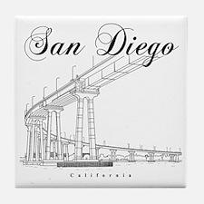SanDiego_10x10_CoronadoBridge_Black Tile Coaster
