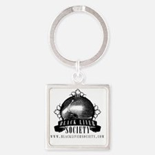 blacklabelsocietytshirt_light Square Keychain