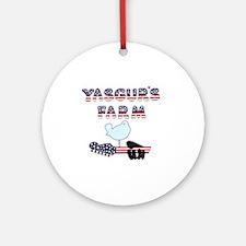 Patriotic Hendrix Logo copy.eps Round Ornament