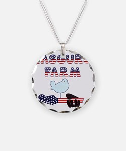 Patriotic Hendrix Logo copy. Necklace