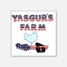 "Patriotic Hendrix Logo copy Square Sticker 3"" x 3"""