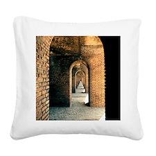 corridor1 Square Canvas Pillow