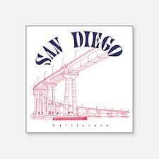 "SanDiego_10x10_CoronadoBrid Square Sticker 3"" x 3"""