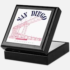 SanDiego_10x10_CoronadoBridge_BlueRed Keepsake Box