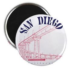 SanDiego_10x10_CoronadoBridge_BlueRed Magnet