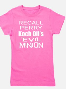 Perry -Koch Oil Evil Minion c-w T Shirt Girl's Tee