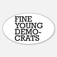 Fine Young Democrats Oval Decal