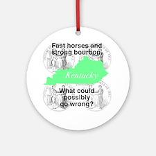 Kentucky Round Ornament