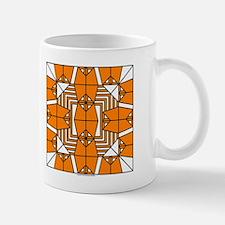 Orange Owls Design Mug