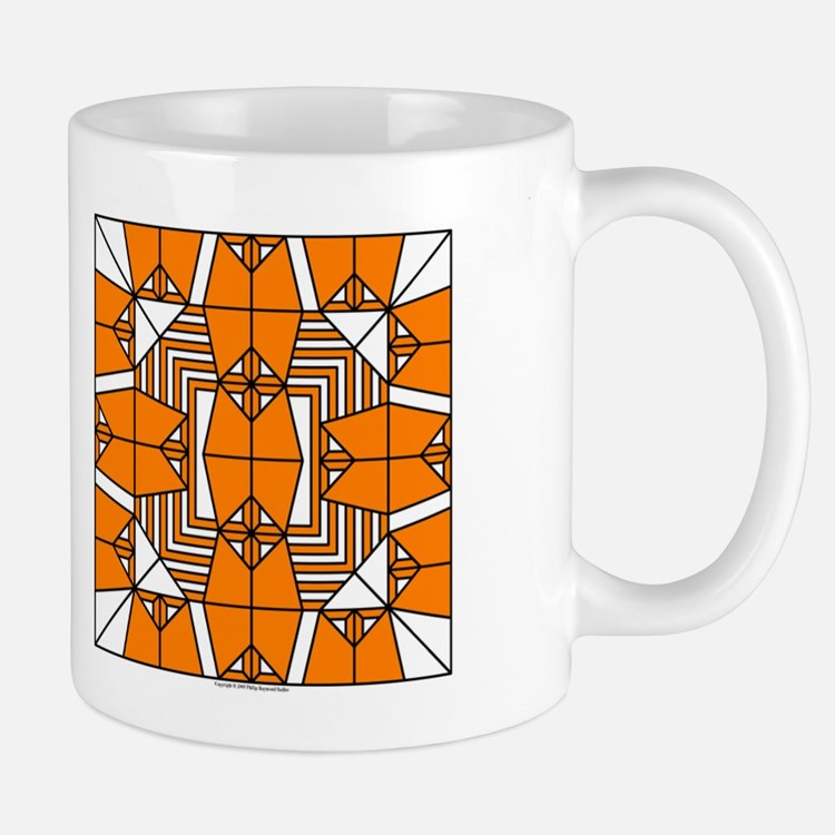Orange Owls Design Mug