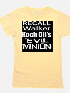 Walker -Koch Oil Evil Minion bk-w T Shi Girl's Tee