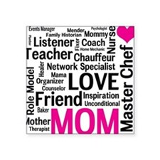 """Mothers Day - Everything Mo Square Sticker 3"""" x 3"""""""