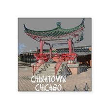 "CHINATOWN CHICAGO POSTER1 Square Sticker 3"" x 3"""