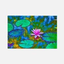 Lilypad Lotus Waterlily Bright Pi Rectangle Magnet