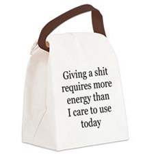 giving a shit Canvas Lunch Bag