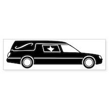 hearse_bw Bumper Sticker