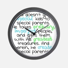 Special Parents white Boy Wall Clock