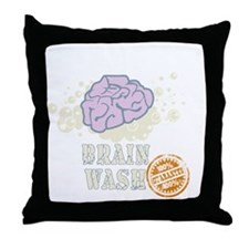 Brain Wash Throw Pillow