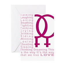 L-Word-Theme-blk Greeting Card