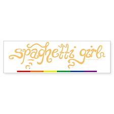 Spaghetti-Girl-blk Bumper Sticker