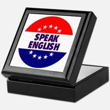 RoundButtonsMagnetsSpeakEnglish Keepsake Box