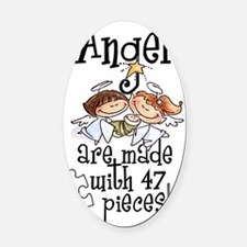 Awareness tee angels are made Oval Car Magnet