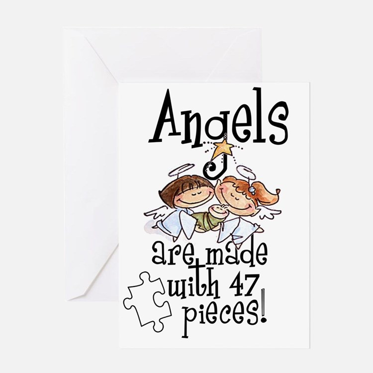 Awareness tee angels are made Greeting Card