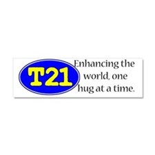 Awareness tee enhancing the worl Car Magnet 10 x 3