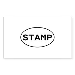 Stamp - Rubber Stamping Rectangle Decal
