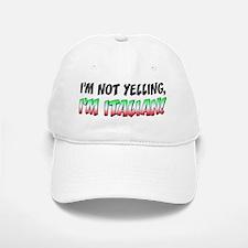 Not Yelling Italian Light Baseball Baseball Cap